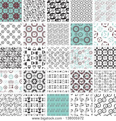 Seamless Pattern Collection With Watches