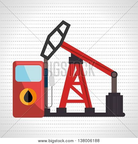 petrol pump isolated icon design, vector illustration  graphic