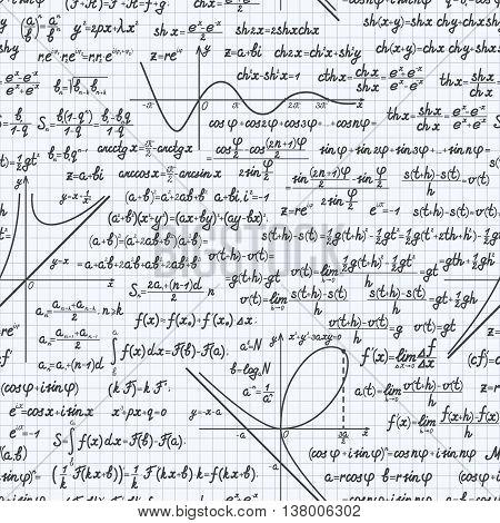 Math Vector Seamless Pattern Background Notebook