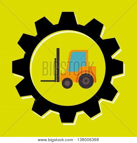 signal forklift isolated icon design, vector illustration  graphic