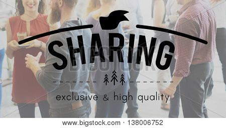 Sharing Communication Exchange Opinion Idea Concept