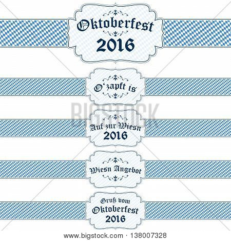 Oktoberfest 2016 Banners With Text