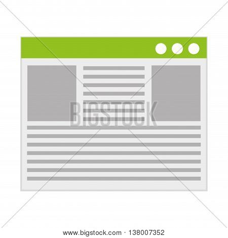 document html isolated icon design, vector illustration graphic