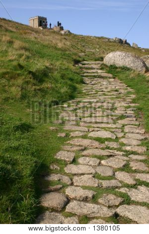 Stone Path To The Old Lookout, Sennen, Cornwall