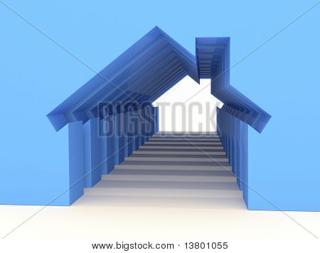 3d House Concept (Rent Metaphor) More Variations In My Portfolio