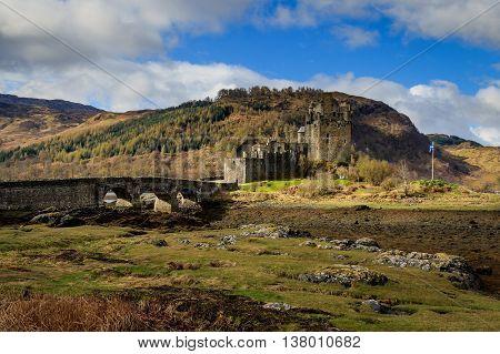 Eilean Donan Castle Dornie Scottish Highlands. UK