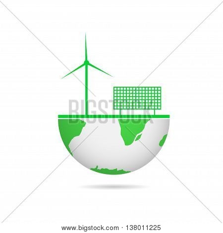 Energy saving technologies. Wind energy. Energy efficiency. Solar energy