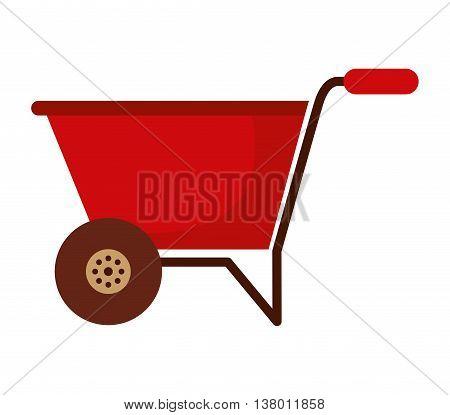 wheelbarrow isolated icon design, vector illustration  graphic