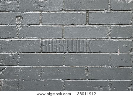 Painted old brick wall exterior background at Georgia, USA