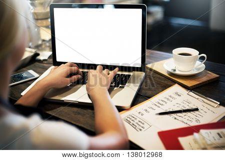 Mock up Copyspace Computer Notebook Laptop Concept