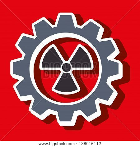 signal of radiation isolated icon design, vector illustration  graphic