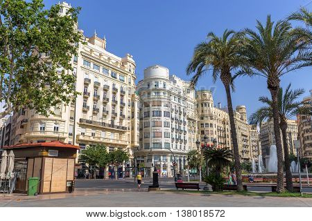 Valencia -june 26: Valencia Historic Buildings On June 26 2016 In Valencia, Spain. Every Year, Valen