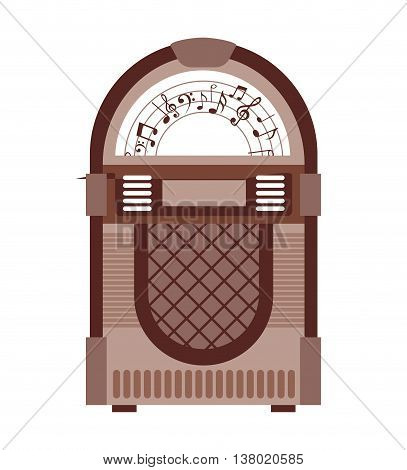 jukebox  isolated icon design, vector illustration  graphic