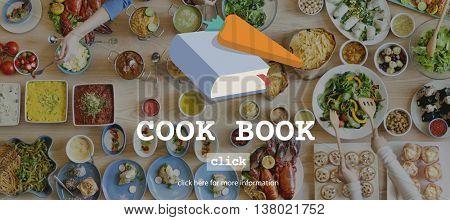 Cook Book Food Menu Meal Concept