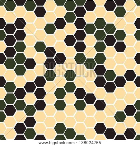 Gexagonal camouflage. Vector digital camo seamless pattern