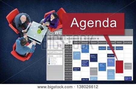 Agenda Appointment Goals Information List Plan Concept