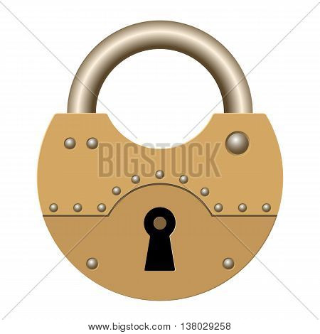 Lock on a white background. Vector illustration.