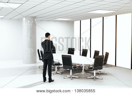 Brainstorming Businessman In Boardroom