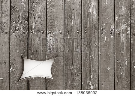 peeling paint on old gray wood wall