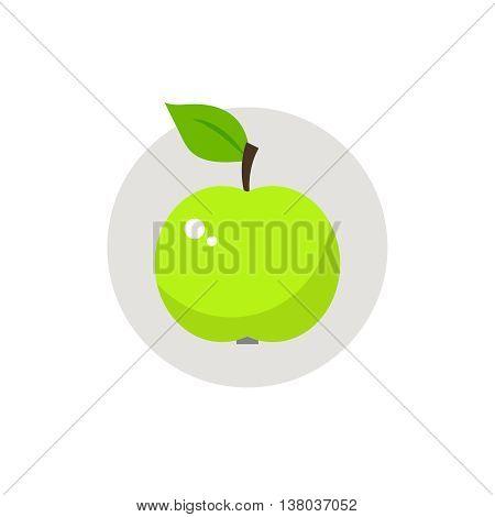 Apple icon flat. Apple icon flat illustration. Apple icon vector.