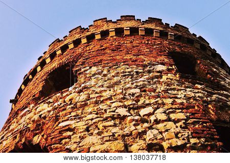 Tower Ruins Of The Mill Windsor With Two Windows Appearing Like Eyes At Sunset In Ceske Stredohori R