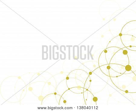 Abstract molecule connection. Dna molecule structure.  Molecule particles background