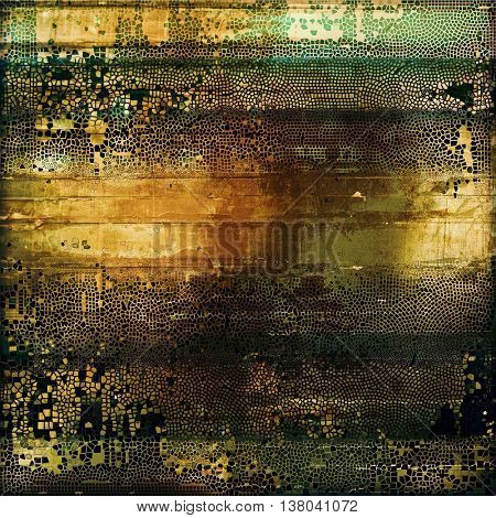 Grunge background for a creative vintage style poster. With different color patterns: yellow (beige); brown; green; gray; black