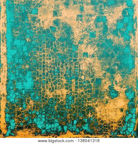 Abstract faded retro background or shabby texture with vintage style design and different color patterns: yellow (beige); brown; blue; cyan; gray
