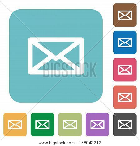 Flat message icons on rounded square color backgrounds.