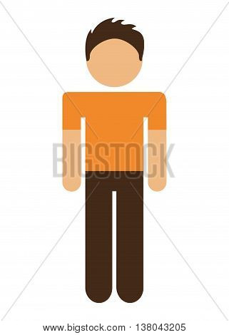man avatar isolated icon design, vector illustration  graphic