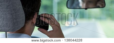 Talking On Phone During Driving Car