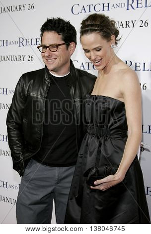 J.J. Abrams and Jennifer Garner at the Los Angeles premiere of 'Catch and Release' held at the Egyptian Theatre in Hollywood, USA on January 22, 2007.