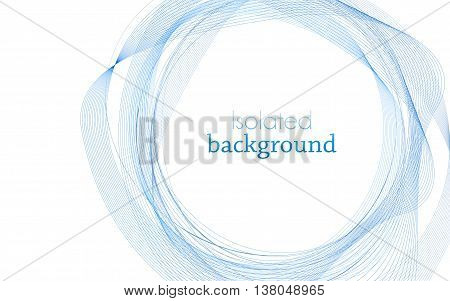 Blue Abstract Mesh Background with Circles Lines and Shapes. Design Layout for Your Business and desktop screen.