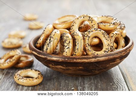 Dried Biscuits With Poppy Seeds