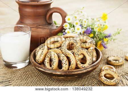 Dried Biscuits And Milk