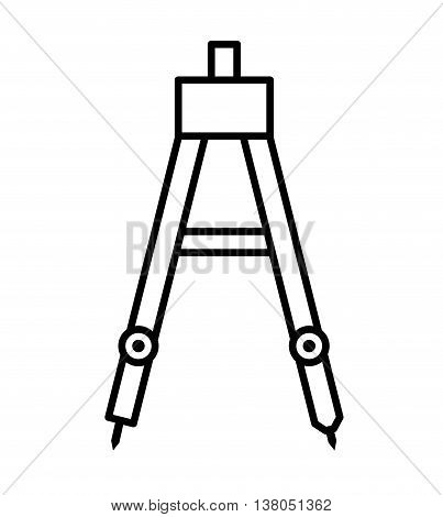 drawing compass isolated icon design, vector illustration  graphic