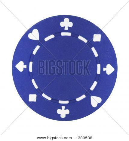 Blue Poker Chip
