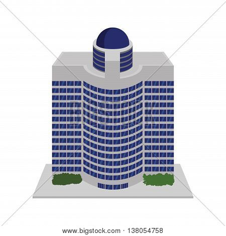 Hotel concept represented by building icon. Isolated and flat illustration