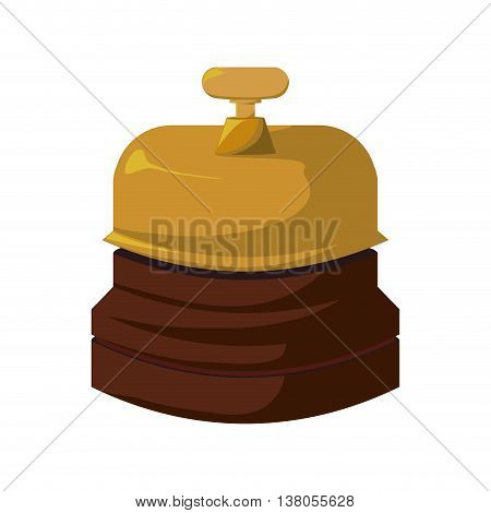 Hotel concept represented by bell icon. Isolated and flat illustration