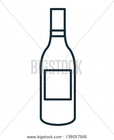 Delicious and traditional wine bottle isolated flat icon, vector illustration graphic design.
