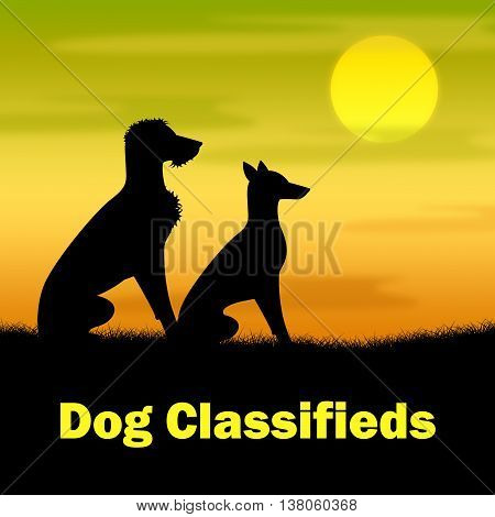 Dog Classifieds Represents Ad Doggy And Newspaper