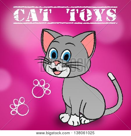 Cat Toys Represents Play Things And Cats