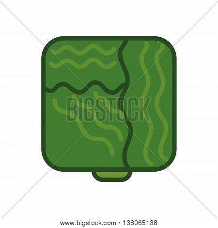 Healthy food concept represented by lettuce icon. Isolated and pixel illustration