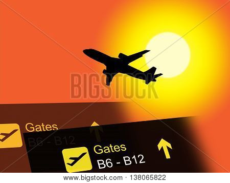 Vacation Abroad Indicates Airplane Air And Transport