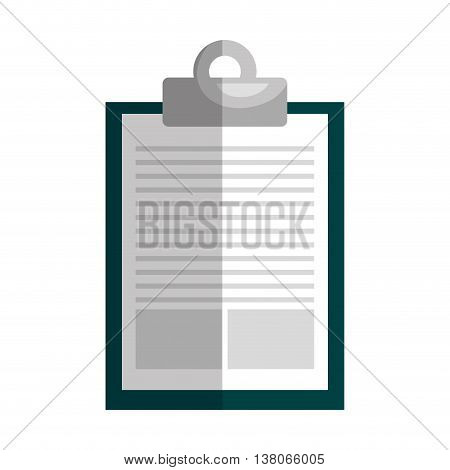 Clipboard, pager note isolated flat icon, vector illustration graphic design.