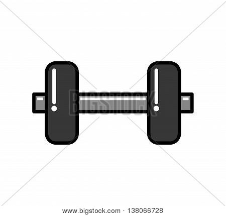 Weight lifting concept represented by metal weight icon. Isolated and flat illustration