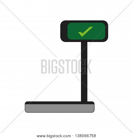 Scale concept represented by weight icon. Isolated and flat illustration