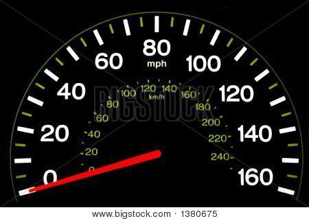 Speedometer At Night