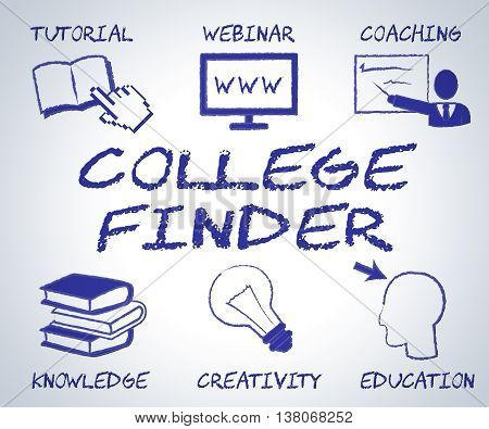 College Finder Means Search Out And Educate