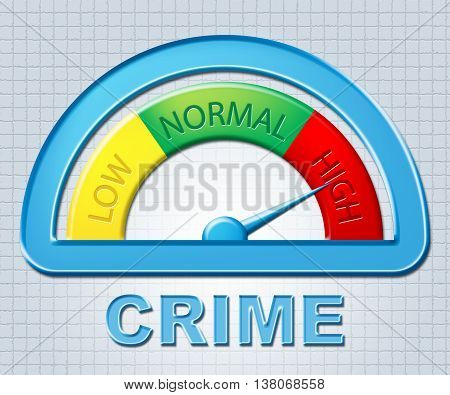 High Crime Indicates Unlawful Act And Criminal